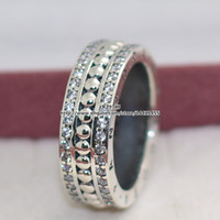 Wholesale High quality Sterling Silver Forever Ring with Clear CZ European Pandora Style Jewelry Charm