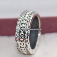 De alta calidad 100% 925 siempre anillo con el encanto de la joyería de Pandora Borrar estilo europeo CZ