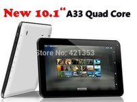 Wholesale 10X cheapest quot A33 Quad Core tablet android QuadCore cheap tablet pc with Bluetooth Capacitive Touch Dual Camera GB GB DHL