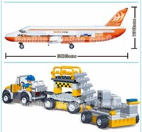 aircraft cargo - learning education Banbao Transport Series Cargo Aircraft Building Block Set Bricks Baby Toy Best Children Gift