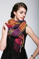 cotton square scarf - New design Hot selling women multicolour plaid scarf square grid scarf colorful scarf warm scarf for Autumn and Winter Zy00511