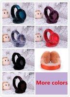 Cheap Wholesale-7 colors Popular brand Australia sheepskin ear muffs Classic Double U Shearling earmuffs Speaker Wired Audio Device ear hats