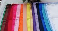 Wholesale New Arrive Satin Solid Square Handkerchief Hanky Napkin Banquet Wedding Party