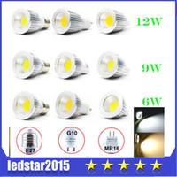 cob led - LED Bulbs COB Bulb Light LED COB Spotlight W W W Led Spotlight GU10 E27 E26 MR16 Dimmable Led Spot Lights Warm Cool White AC V V