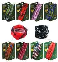 Wholesale Outdoor Sport Multi use quick dry Sweat Bandanna magic Scarf Wrap Beanie Headscarf Headwrap Headkerchief Hiking Running Cycling cap