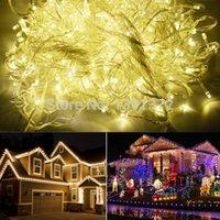 Wholesale new M LED Warm White Led Christmas Lights Outdoor Decoration Wedding Party Twinkle String Lighting V EU TK05861