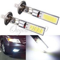 Cheap Free Shipping 2x H1 7.5W High Power Xenon White 6000K COB LED Car Auto Fog Lights DRL Daytime Running Driving Lamp Bulb DC12V
