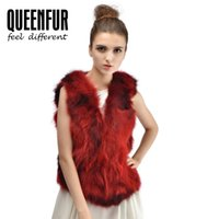 Wholesale Queenfur New Real Raccoon Fur Vest For Women Warm Winter Ladies Coat Fashion Fur Gilet Outwear Hot Sale