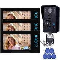 Wholesale 1 Camera w Monitors quot Color Video Door Phone Doorbell Intercom Camera Access Control System With Remote Control F4366A