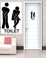 bathroom tiles prices - Factory Price Funny Toilet Entrancre Sign Vinyl Sticke Bathroom Decal For Shop Office Home Cafe Hotel wallpaper ZYVA
