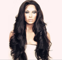 swiss lace wig - Fashion Loose Wavy Glueless Full Lace Wig Front Lace Wig Natural Color Brazilian Human Hair Wig