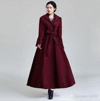 Cheap 2015 autumn fashion women red woolen overcoat women's long wool winter coats woman cashmere trench
