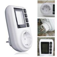 ac power analyzer - V A AC EU Plug energy meter power KWH Consumption Monitor Analyzer digital Watt meter hot selling