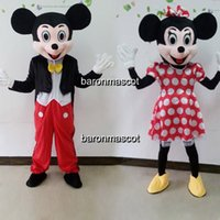 Wholesale Couple Mickey Minnie Mouse Mascot Costume Party Clothing Mickey Mouse Fancy Dress Minnie Mascot Birthday Party Suit