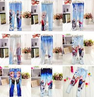 new design pants - 2016 new FREE FAST WAY Frozen Elsa Anna girls children leggings long pants trousers designs