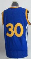 Wholesale Cheap Basketball Jerseys New Arrival White Blue Basketball Curry Jersey Sportswear Jersey