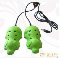 Wholesale 1 Pair Deodorization Constant Temperature USB Plastic cartoon Foot Warmer Shoes Dryer
