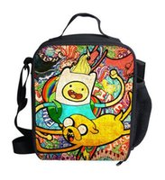 army food container - Adventure time Thermal Instulated Lunch Bags Children School Lunchbox Cute Finn And Jack Lunch Box Kid Picnic Container For Food