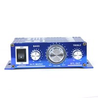 Wholesale Car Hi Fi Digital Audio Stereo Amplifier A6 for Cars Motorcycle Boat Home MP3 CD Usage V DC AAA Quality