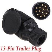 Wholesale Tirol Pin Trailer Plug Pole Connector V Towbar Towing Caravan Truck Plug N Type Trailer End Plastic K1189