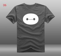t-shirt wholesale - 2015 Summer Fashion Men s T shirt Short Sleeve Mens Cotton T Shirts Big Hero Baymax Shirt Clothing