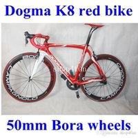 Wholesale 65 complete road bike bicycle full carbon fiber K8 red color c mm wheels different groupset for choice
