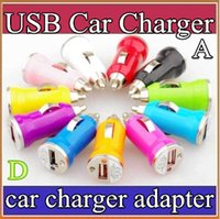 Wholesale A35 Mini USB Car Charger USB Charger Universal Adapter for iphone S Cell Phone PDA MP3 MP4 player mobile i9500 S3 S4 S5 M7 epad CT