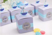 small gift boxes - 50 Wedding Favor Box Print On Board Paper Bags Small Gift Chocolate Sweet Favors Candy Boxes For Gifts Party Packaging BG50271