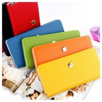 Wholesale Pearl Chain Zipper PU Leather Purse Fashion Ladies Candy Color Wallet Hand Bags