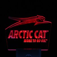arctic cat logos - ws0073 Arctic Cat Snowmobiles Logo Day Night Sensor Led Night Light Sign