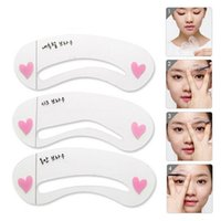 Wholesale Eyebrow Grooming Stencils Women Eye Brow Eyeliner Shaping Stencil Eyebrow Shadow Shaper Kit Set Professional Makeup Tools