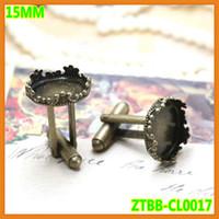 Wholesale New arrival fashion mm Crown Cuff link Blanks Bezel Cufflink Setting Cameo bezel base buttons cufflink base