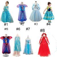 kids summer clothing - Princess Clothes Frozen Elsa Princess Dresses Elsa Anna Dresses Costume Styles Kids Halloween Party Dress
