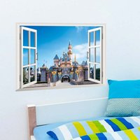 background city - 3D Wallpapers Fake Window Sticker City Wallpaper Living Room Bedroom Children s Room Decoration Background Removable Waterproof Gift