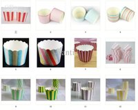 cupcakes cases - Paper bucket MUFFIN paper cake cups Stripe and Dot Paper CUPCAKE CASES baking cup cake holder