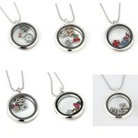 Cheap 2015 New Style 30mm Glass Floating Charms Memory Locket Necklace Origami Owl Jewelry for Party Dress Up