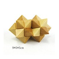Wholesale Wooden toys adult unlock Ming lock Luban lock casual puzzle wooden toys a set of five