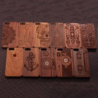 wooden case - Classical Retro Natural Walnut Wooden Case Cover for Iphone S Plus inch S Hard Wood Plastic Mobile Phone Cases
