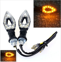 Wholesale 2x Universal Motorcycle Waterproof LED Turn Signal Light With Amber Turn Signal Lights new