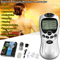 Wholesale Acupuncture Body Massager Digital Therapy Machine Health Care Equipment For Foot Neck Face Vacuum Back Massage Cupping With Retail Box
