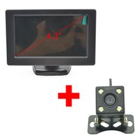 accessory displayer - 4 Inch Universal Car Styling TFT LCD Rear View Screen Mirror Monitor Displayer Reverse Camera Parking Backup Auto Accessories