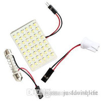 auto interior light bulbs - 48 LED Auto Car Dome Festoon Interior Bulb Roof Reading Light Lamp with T10 Adapter Festoon Base SMD