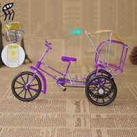 Wholesale 2015 Hot Special Adult toys aluminum Retro Marquises small rickshaw model set tourism souvenir juguetes toys for kids