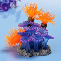 Wholesale Price High Quality Soft Artificial Vivid Resin Coral Aquarium Aquatic Fish Tank Decoration Ornament order lt no track