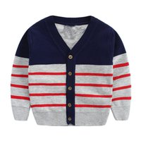 acrylic cardigan sweaters for men - Sweater Striped Knit Cardigan For Boys Children s Wool Sweater Boys Clothes For Autumn