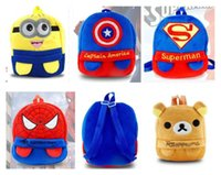Wholesale Christmas gifts Avengers Minions preschool plush Backpack for little baby cm Batman spiderman superman school bags Backpack for kids