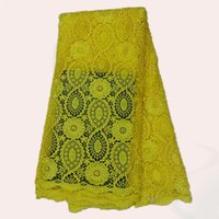 Wholesale Guarantee quality African polyester cord Lace cloth LWL48 Newest Water Soluble Lace fabric yards