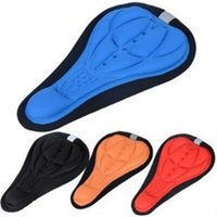 Wholesale 4 Colors New Fashion D Gel Soft Cushion Cycling Saddle Parts Bicycle Seat Mat For Bike Seat Cover