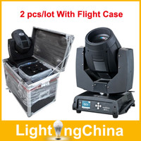 Wholesale New Sharpy Beam Lights R W R W LED Moving Head Lights Stage Lighting With Flight Case Fast Shipping