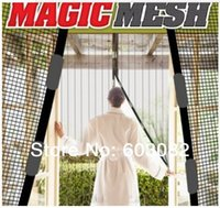 Wholesale Magic Mesh Camouflage Print Hands Free Instant Screen Door Kit Blinds Shade Shutter m m